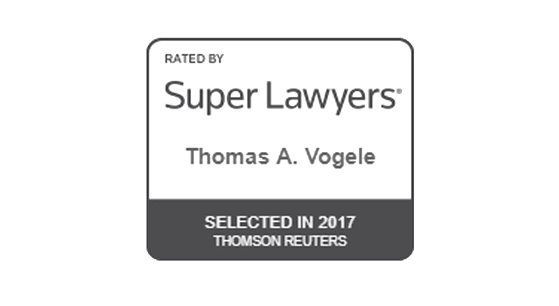 Supr Lawyers Badge - Thomas A Vogele Selected in 2017 Thomson Reuters (opens in new window)