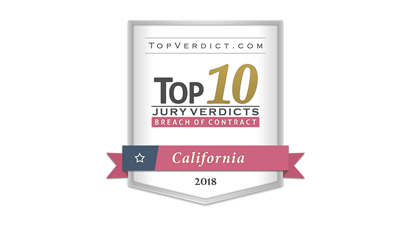 Top 10 verdict 2018 - breach of contract