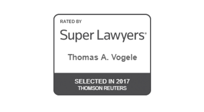 Super LAwyers Badge - Thomas A Vogele Selected in 2017 Thomson Reuters