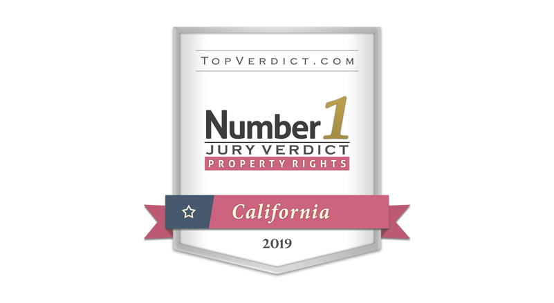 2019 Number 1 Verdict Property Rights California